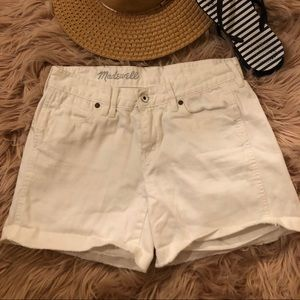 White Madewell Jean shorts- 26- great condition